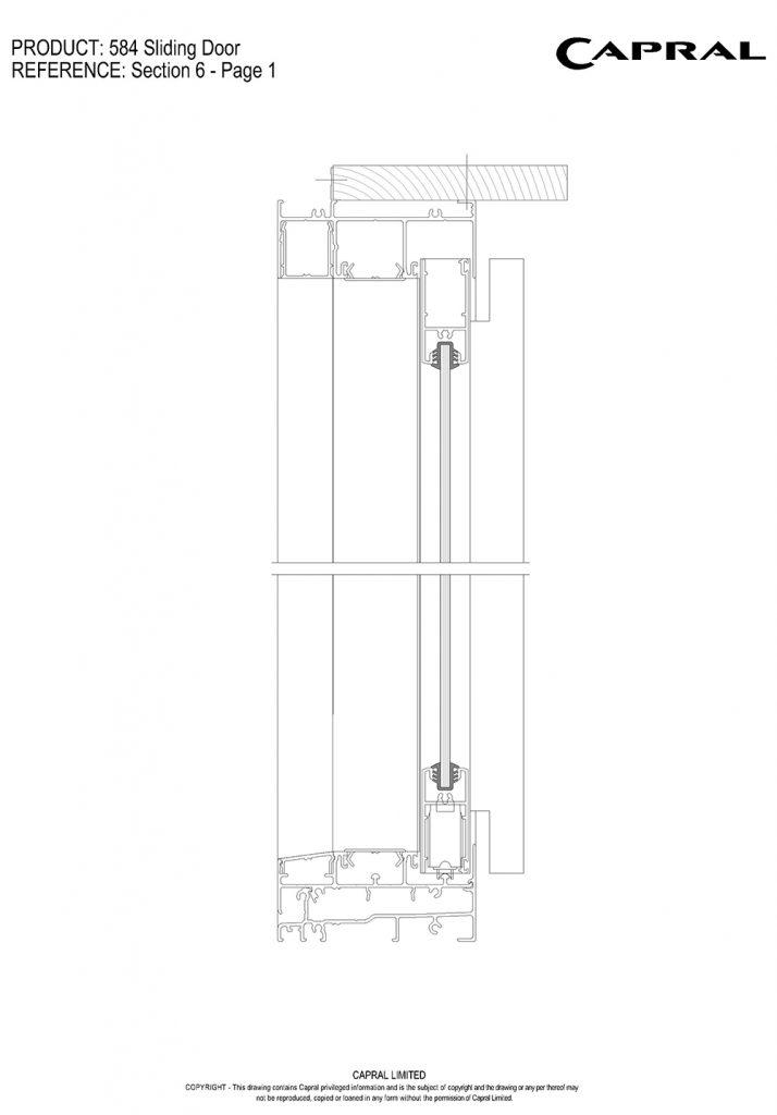 584SD-01-Sliding Panel Head n Sill
