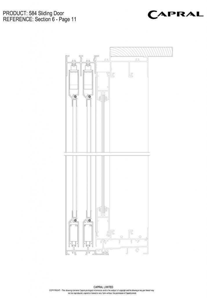 Urban 584 Sliding Door | Capral Aluminium