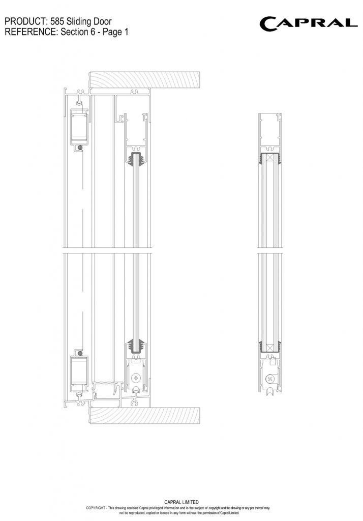 585SD-01-Sliding Panel Head n Sill