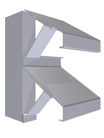 Extruded Louvre_Bracket Fixed146mm_3D_Lg