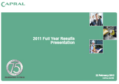 2011 Full Year Results Presentation pic