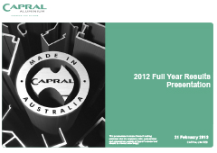 2012 Full Year Results Presentation pic