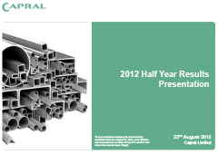 2012 Half Year Results Presentation pic