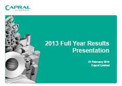 2013 Full Year Results Presentation pic