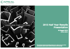 2013 Half Year Results Presentation pic