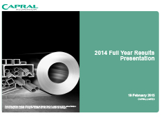 2014 Full Year Results Presentation pic